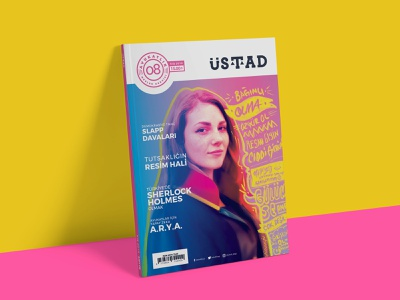 8th issue of Ustad Magazine portrait art illustration digital illustration magazine design magazine cover