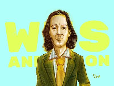 Portrait 6/50 drawing portrait drawing wes anderson illustration digital illustration digitalart