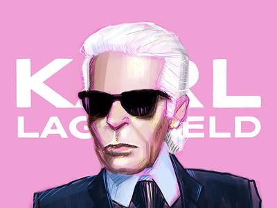 Portrait 7/50 illustration digital illustration drawing karl lagerfeld portrait