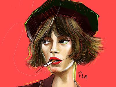 Portraits 8/50 procreate practice drawing portrait illustration digital illustration