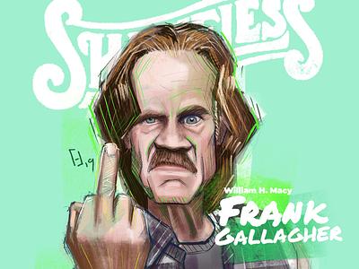 Portraits 9/50 portrait drawing illustration digital illustration shameless frank gallagher fan art