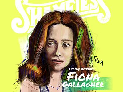 Portraits 10/50 illustration drawing digital illustration portrait emmy rossum shameless