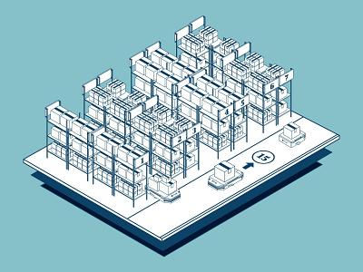 Milvus Robotics isometric art isometric design illustration digital illustration