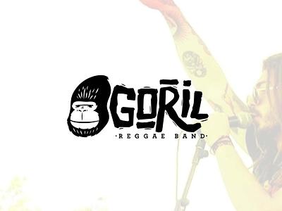 Goril Reggae Band gorilla illustration gorilla logo digital illustration music reggae logo design