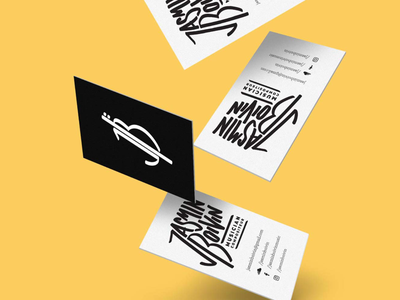 Jasmin Boivin music cello business card logo design lettering