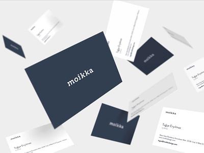 Moikka business card design corporate identity branding front-end development website design logo design