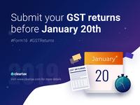 GST Returns Social Media Post