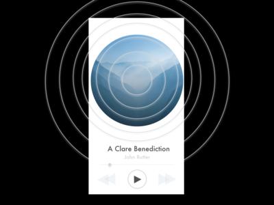 Music Player (Light) blue black white light mobile ux music player music app music design ui