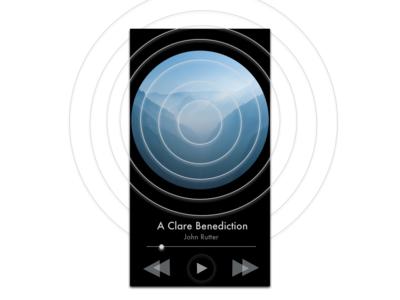 Music Player (Dark Version) mobile black light blue white light music player app music player music design ux ui