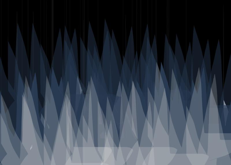 Visual Design Practice 1 mountains blue black drawing sketch design