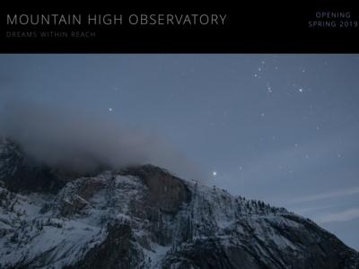 Observatory Website Design sky outdoors nature mountain creative website concept blue ux ui black webdesigner webdesign art web sketch website design