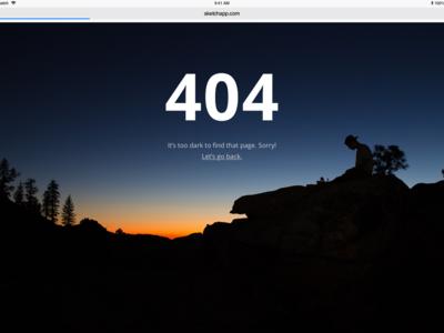 404 Error Page Design creative 404 error page 404 error 404 sunset nature black blue sketch art ux ui webdesigner webdesign website web design