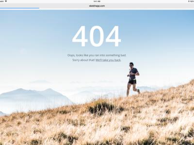 404 Error Page website webdesigner webdesign web ux ui health running exercise mountains sketch nature design creative blue white art 404 error page 404 error 404