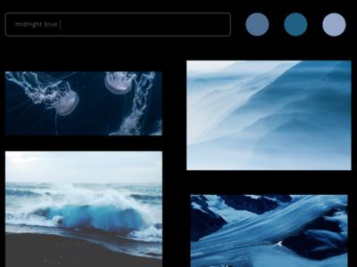 Color Picker Concept Website 2 blue website concept website webdesigner webdesign web ux ui sketch nature design dark mode creative color picker color black art
