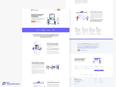 Your Digital Realtor website design illustrator adobe xd web typography coding illustration branding responsive mobile ui design webdesign website