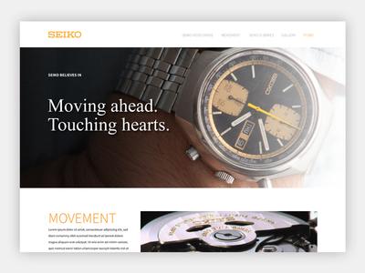 Seiko Landing page Mockup