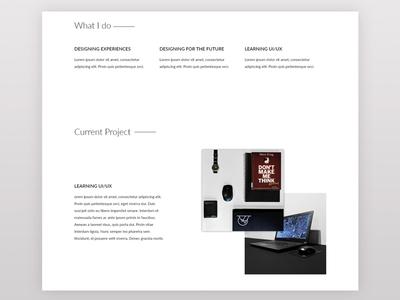 Portfolio Site Part 2: About me, Current Project