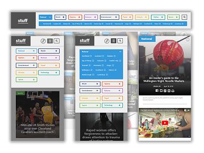 Navigation for Stuff Redesign desktop mobile design filters navigation