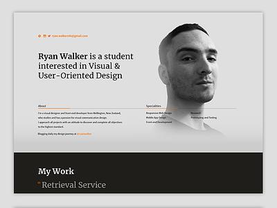 1 Day Portfolio ui ux coding design web cv portfolio