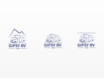 GIPSY RV Centre - Logo Iterations