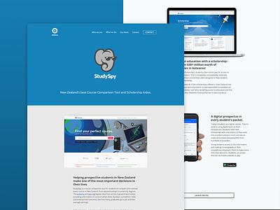 StudySpy - Case Study on Obvious. identity ios xd flat app blue portfolio logo branding website web responsive illustration coding adobe webdesign mobile ui ux design