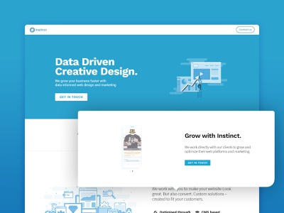 Instinct Marketing Website Version 1 xd website web responsive coding adobe webdesign mobile ui ux design