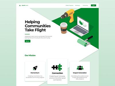 Social Capital: Landing Page vector branding web xd website responsive adobe webdesign ui design