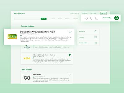 Social Capital: Community Directory web xd website responsive mobile adobe webdesign ux ui design