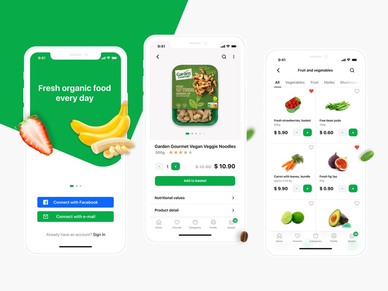 Healthy food delivery app food and drink interface designs like food app organic eshop market order delivery food healthy follow debut app ux ui design