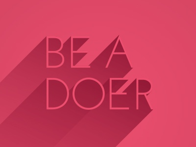 Be A Doer poster pink typography