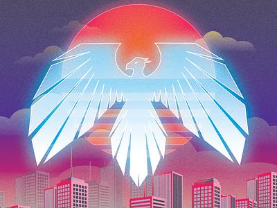 Album Artwork for Telelectrix illustration synthwave music cd design
