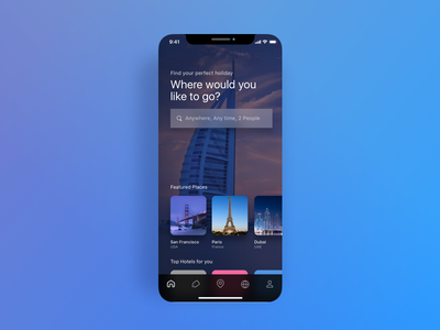 Travel App Preview app concept travel app ios iphone x landing page ux ui travel