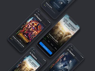 Movies App Concept concept ui tickets booking interaction invision studio iphonex mockup movies app movies