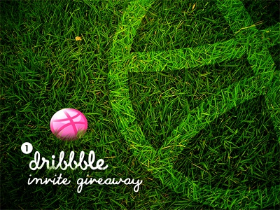 Dribbble Invite giveaway invite dribbble dribbble invite give away invite giveaway portfolio grass green color icon creative one