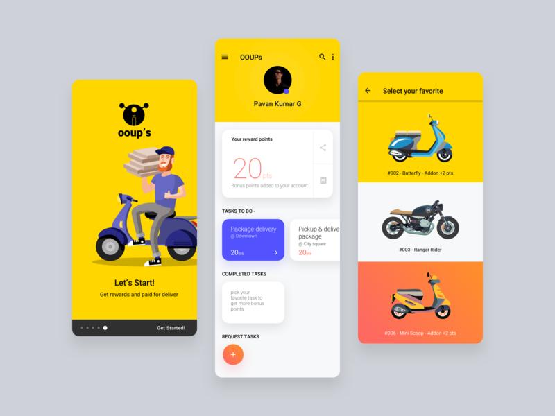 Task Maker - Delivery App Concept ux ui ooups mobile app design delivery app task task maker