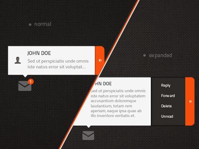 Freebie - Short Email PSD ui freebie email psd free psd download dark orange colorful user icon