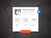 User Profile Social Widget