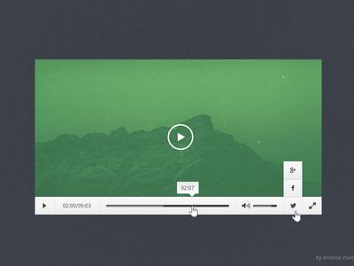 Freebie - Video Player PSD