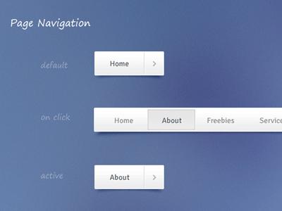 Freebie - Navigation (Free PSD and CSS) navigation social bar page menu blue minimal psd freebie download css