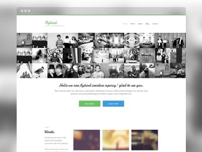 Working On working on portfolio minimal landing page web design web website green blue works grid window