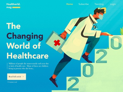 Healthcare 2020 covid medical doctor branding typography landing page ui character ux ui landing page design landing page website concept website illustration