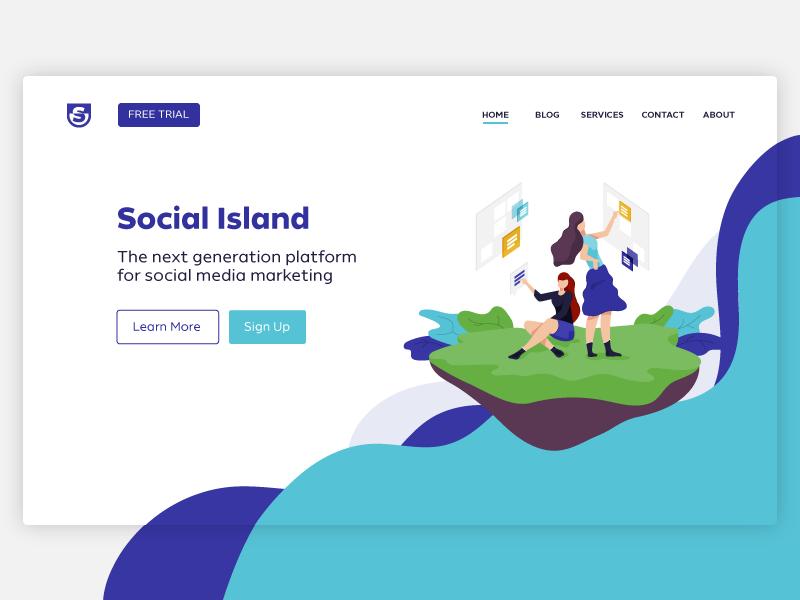 Mock up for website colors flat design ui webdesign illustration