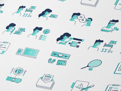 Icons set for infographic #14 colors flat design infographic illustration iconset icons