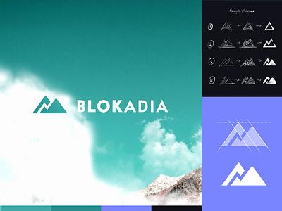 Blokadia Logo web branding graphic design 2d icons icon ux ui colors vector typography logo