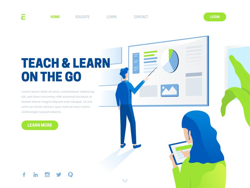 Landing Page Template Illustration