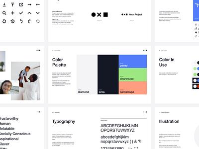 Brand Refresh of Noun Project visual language figma visual design lingo style guide styleguide noun project branding design ux product design