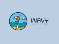 Surf Club Wavy - logo