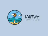 Surf Club Wavy - logo