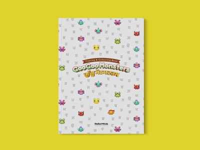 Illustrations and Editorial Design for GooGoo Monsters kids book design editorial design punjabi india tracing students workbook