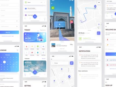 Muslim Mobile App - All Screen